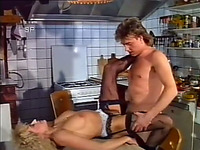 Awesome sex with kinky and sexy blondie in the ktichen