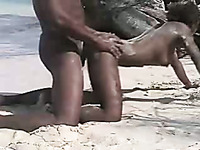 Ardent sex on the beach with my gorgeous South African beauty