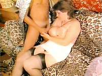 White busty and sexy babe working her pussy hard to ride that cock