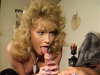 Slutty and kinky blonde babe jerking off her friend's large cock