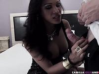 Busty shemale fucks ass