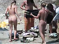 I spied after a groups of nude campers on the beach