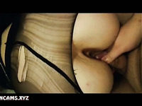 Old Man Fuck and Creampie Sluty Kinky Girl in Black Pantyhose - Nyloncams