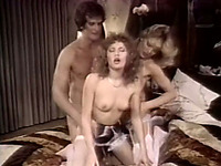 Lustful bitches are fucking furiously in hardcore FFM threesome XXX porn clip