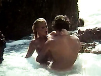 Slutty euro girl gets fucked by the man in the water