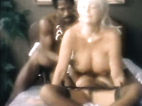 Two horny big boobed MILFs share one big black cock