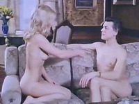 Cute blonde babe gives her head classic sex video
