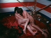 Kinky and filthy bitch with dark hair gets fucked hard