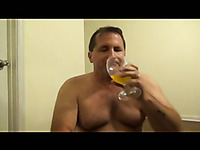 Sissy Pervert Tom Pearl Drinks His Piss