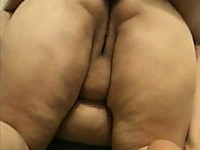 BBW mature wife enjoys anal doggyfucking and takes creampie