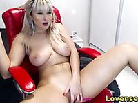 naughty milf masturbates her pussy with toy