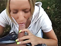 My hot German blonde girlfriend being a whore on cam