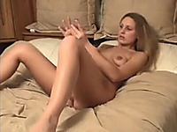My lusty blond haired GF showed me the way she masturbates