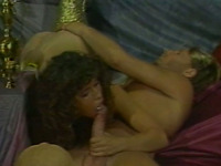 Two sexy and seductive sluts pleasing one lucky bastard