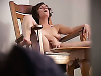 Hidden camera caught my horny girlfriend masturbating