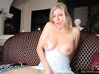 Gorgeous Blonde MILF With Beautiful Pussy And Ass Masturbating On Webcam