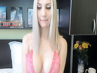 Amazing Teased And Performance By A Petite Blonde Live