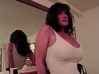 Magnificent busty brunette cougar loves anal sex on cam