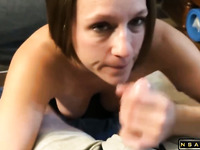 MILF Whore sucks cock slut sucks so good decide to facial
