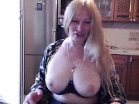 my mature blonde stepmom fingering her tight pussy