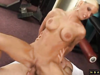 Busty blonde milf works her fiery cunt on every inch of dick