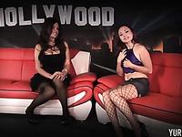Mezenrath Presents : Sext Busty Beauty Girls Lesbian Public In Office