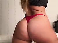 Ardent amateur babe loves bragging of her awesome juicy big ass