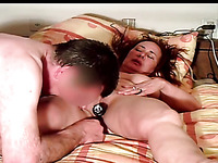 Ugly amateur mature wife deserves masturbation and pussy licking