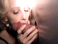 Zealous mature whore is into sucking strong cock dry to win some cum