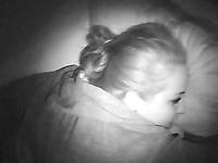 Fallen asleep natural slut is woken up urgently to give man a blowjob