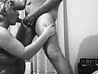 Hot Turkish short haired milf gives me blowjob on cam