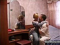 Hot Blonde Russian Girl Sex With Old Man In Her Room