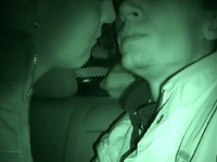 Shy horny couple fucks at late night and record their copulation