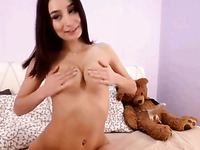 hot busty stepsister fucking her asshole with dildo