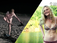 Nice footage of hot Dakota Fanning flashing her bum in some nude scenes