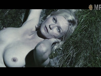 Lovely big boobies with suckable hard nipples are flashed by Kirsten Dunst