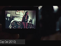 Rashida Jones and her sexy solo in black lingerie taped on hidden cam