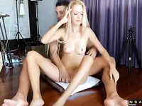 Stunning Canadian Blonde Milf Has A Guy Fisting Her Squirting Pussy