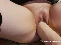 Hot Amateur MILF Squirting on Big Dick Maniac