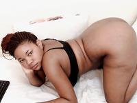 Ebony bbw fingering her chubby pussy