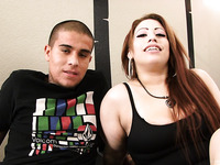 Chubby tattooed Latina chick bangs her fuck buddy
