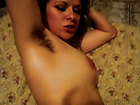 I have a fetish for hairy armpits of my brunette wife