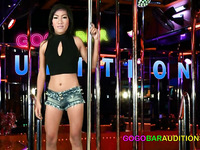 Thai girl with a fat pussy fucks for a gogo bar job
