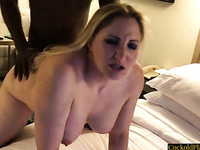 Sexy Blonde Wife Used By BBC In Front Of Her Cuckold Husband