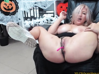 Sexy Blonde MILF Squirts In Front Of The Webcam