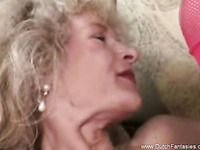 Old Dutch Granny Sex On Couch While Relaxing Together
