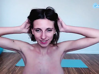 Camsoda - Amateur milf with big boobs attempts handstand