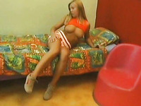 Amazing sex with my young blonde Russian girlfriend in bed