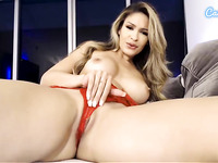 Camsoda - Busty latina pornstar toys and fingers her pussy