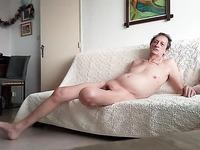 me naked on my sofa